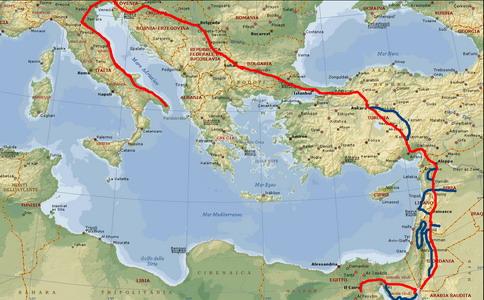 Cartina Del Libano.Parto Per Il Medio Oriente Egitto Israele Siria Libano Viaggi E Itinerari